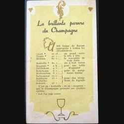 Carte la brillante parure du Champagne