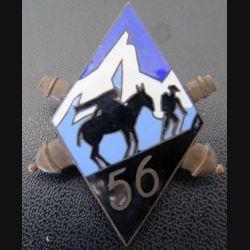 56° RAM : 1° groupe du 56° régiment d'artillerie de montagne en émail (Delande)