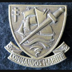COMMANDO : insigne de béret des commandos Marine fabrication Drago deux épingles