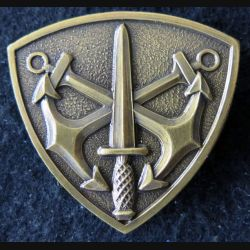 COMMANDO : insigne de béret des commandos Marine non titulaire Drago 50 mm