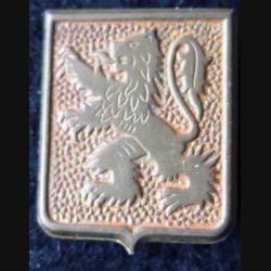 43° RIA : insigne de béret du 43° régiment d'infanterie alpine de 1942 embouti