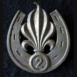 2° REI : insigne béret du 2° régiment étranger d'infanterie en Algérie fabrication non spécifiée