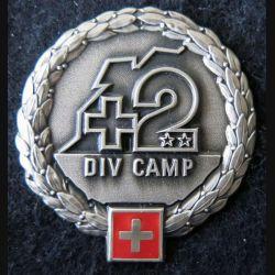 SUISSE : insigne de béret de la 2° div Camp de l'armée territoriale suisse