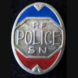 POLICE : insigne métallique de la Sureté nationale époque 1939-1945