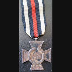 ALLEMAGNE : croix du mérite d'Hindenburg sans glaives 1914 - 1918 état moyen