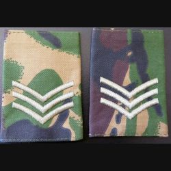 fourreau camouflé de sergent de l'armée anglaise (vendu par paire) neuf
