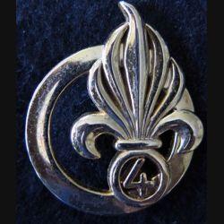 INSIGNE DE BÉRET 4° RE : insigne de béret du 4° régiment étranger de fabrication LR Paris G. 3840