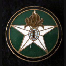 1° REI  : Insigne métallique de la compagnie montée du 1° Régiment étranger d'infanterie Drago Paris en émail retirage