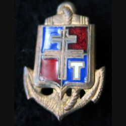 71° CCT : insigne en réduction 71° compagnie coloniale de transmissions 9° DIC Drago émail