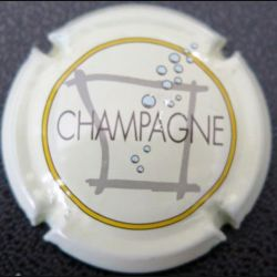 Capsule Muselet de bouteille de champagne Sébastien Beaufort blanc (L2)