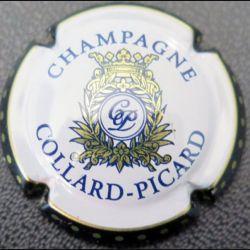 Capsule Muselet de bouteille de champagne Collard-Picard contour noir fond crème (L2)