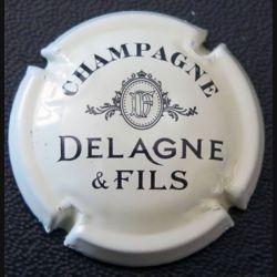 Capsule Muselet de bouteille de champagne Delagne Crème et noir (L2)