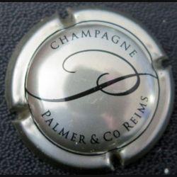 Capsule Muselet de bouteille de champagne Palmer & Cie argenté et noir  (L2)