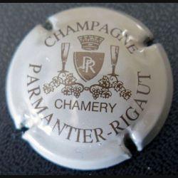 Capsule Muselet de bouteille de champagne Parmantier Rigaut Gris et Or (L2)