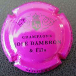 Capsule Muselet de bouteille de champagne José Dambron Rosé et noir (L2)