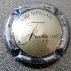 Capsule Muselet de bouteille de champagne Francinet & Fils vert et noir (L2)