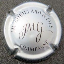 Capsule Muselet de bouteille de champagne JM Gobillard & Fils argent et noir (L2)