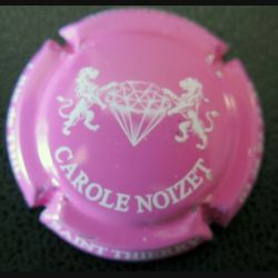 Capsule Muselet de bouteille de champagne Carole Noizet rose et blanc (L3)