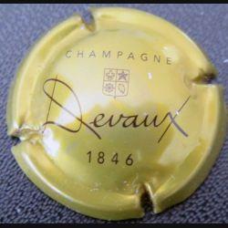 Capsule Muselet de bouteille de champagne Devaux or et noir 1846  (L3)