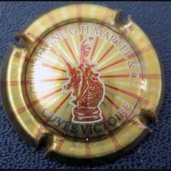 Capsule Muselet de bouteille de champagne G.H Martel or et bordeaux cuvée victoire  (L3)