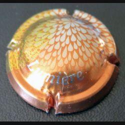 Capsule Muselet de bouteille de crémant collection lumière marron et argent (L3)