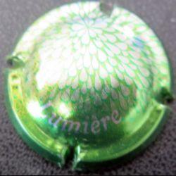 Capsule Muselet de bouteille de crémant collection lumière vert et argent (L3)