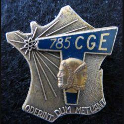 785° CGE : insigne métallique de la 718° compagnie de guerre électronique de fabrication Drago Paris G. 2930