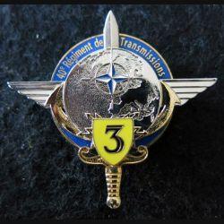40° RT : Insigne de la 3° compagnie du 40° régiment de transmissions de fabrication ABP N° 156