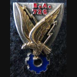 BA 726 : insigne métallique de la base école BA 726 de Nimes de fabrication Delsart Sens A. 591