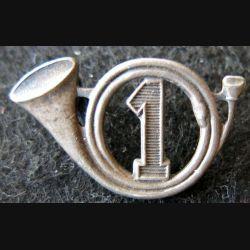 1° GCP : insigne métallique du 1° groupe de chasseurs portés de fabrication Aremail H. 120