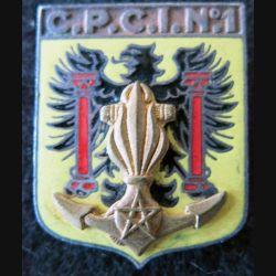 CPCI N° 1 : insigne métallique du centre perfectionnement cadres infanterie N° 1 fabrication Drago G. 1670