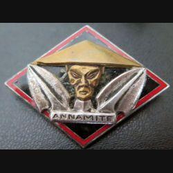 ANNAMITE : aviso dragueur Annamite de fabrication Drago Olivier Métra en émail
