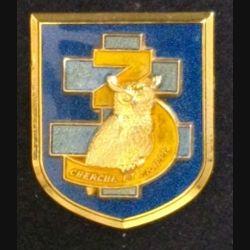 126° RI : insigne métallique de la 3° compagnie du 126° régiment d'infanterie HIBOU de fabrication Boussemart Prestige translucide