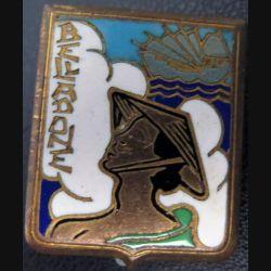 BELLADONE : insigne du Dragueur Belladone de fabrication Drago Olivier Métra en émail