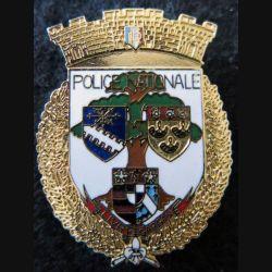 POLICE : Insigne métallique de la police nationale de Livry Gargan en émail