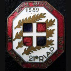 21° RIAP : 21° régiment d'infanterie aéroporté avec période 1945 en émail