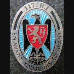 117° RI : 117° régiment d'infanterie de fabrication Arthus Bertrand Paris G. 428 en émail