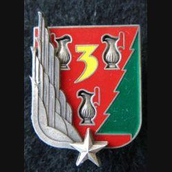 3° RHC : insigne du 3° régiment d'hélicoptères de combat type 2 de fabrication Fraisse G. 3409