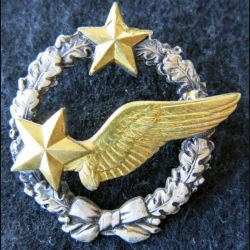 ARMÉE AIR : insigne métallique Brevet d'élève pilote d'avion (actuel) Drago Paris 43 mm