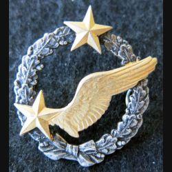 ARMÉE AIR : insigne métallique brevet d'élève pilote d'avion (actuel) sans fabricant 43 mm