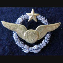 ARMÉE AIR : insigne métallique brevet de navigateur Drago Paris 43 mm