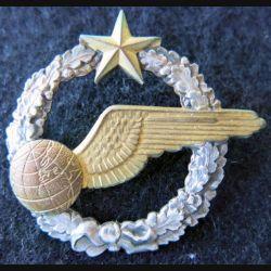 ARMÉE AIR : insigne métallique brevet d'élève navigateur 43 mm