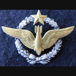 ARMÉE AIR : insigne métallique brevet de navigateur bombardier Drago Paris 43 mm