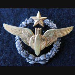 ARMÉE AIR : insigne métallique brevet de navigateur bombardier Drago Romainville 43 mm