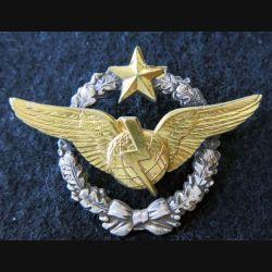 ARMÉE AIR : insigne métallique brevet de radio navigateur Drago Paris 43 mm