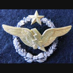 ARMÉE AIR : insigne métallique brevet de radio navigant Drago Paris 43 mm