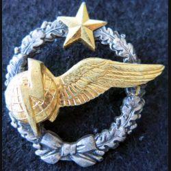 ARMÉE AIR : insigne métallique brevet d'élève radio navigateur Drago Romainville 43 mm