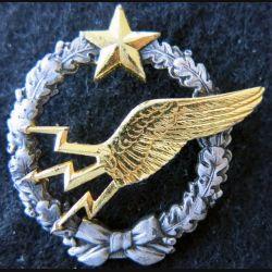 ARMÉE AIR : insigne métallique brevet d'élève radio navigant Drago Romainville 43 mm
