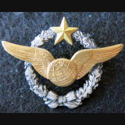 ARMÉE AIR : insigne métallique brevet de navigateur Drago Noisiel 43 mm