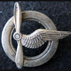 ARMEE AIR : Ancien insigne de brevet membre d'équipage avion et dirigeable 40 mm